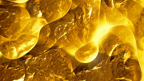 Crumpled gold surface abstract motion background seamless... Stock Video Footage