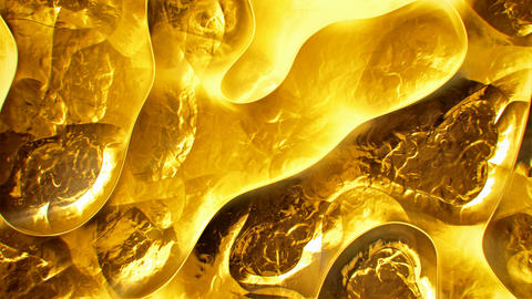 Crumpled gold surface abstract motion background seamless loop Animation