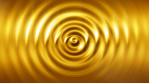 Liquid gold abstract motion background seamless loop Animation