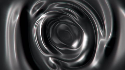 Swirling liquid metal abstract motion background seamless loop Animation