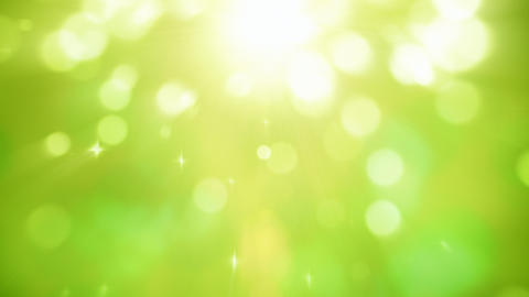 Natural light particles green motion background seamless loop Animation