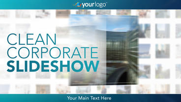 Clean Corporate Slideshow - Apple Motion and Final Cut Pro X Template Apple Motion Template