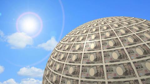 Ten thousand yen bills 01 Animation