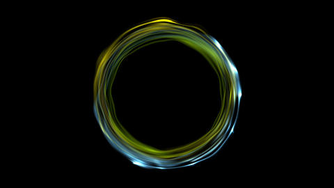 Colorful glowing electric neon circles video animation Animation