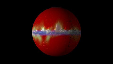 red planet and fire orbit,white dwarf and weight density heavenly body in univer Animation