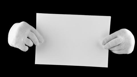 Document In Hands stock footage