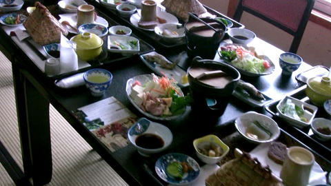 Japanese Restaurant Table stock footage
