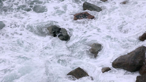 Rocks and surf Footage