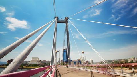 Pedestrian bridge Footage