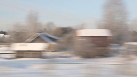 train winter background sound Stock Video Footage