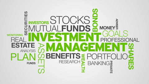 Investment Management Word Cloud Animation stock footage