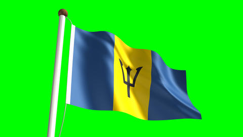Barbados flag Animation