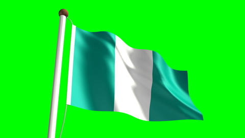 Nigeria flag Animation