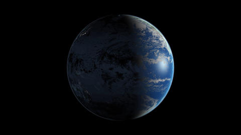 Day & Night from space Stock Video Footage