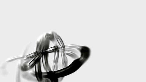 metal mercury chain curve wire,ink,alien organisms DNA... Stock Video Footage