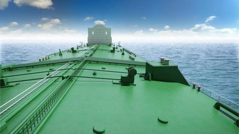 Oil tanker in a sea Stock Video Footage