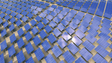 Installation of solar panels Animation