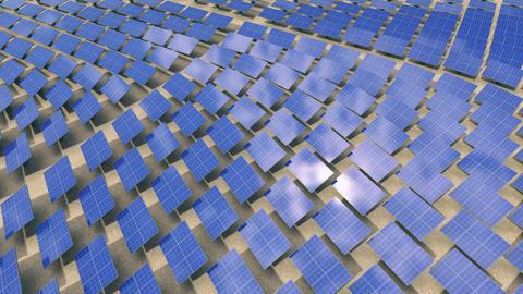 Installation of solar panels Animation