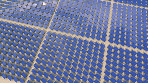 Installation of solar panels Stock Video Footage