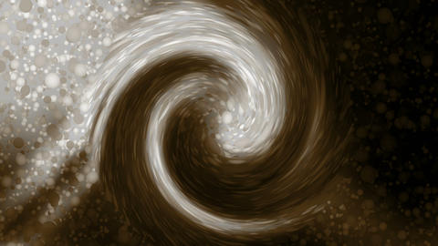 rotate coffe ripple and smooth silk,particle and ink... Stock Video Footage