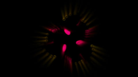 spiral particles chain and plate vines growing,molluscs... Stock Video Footage
