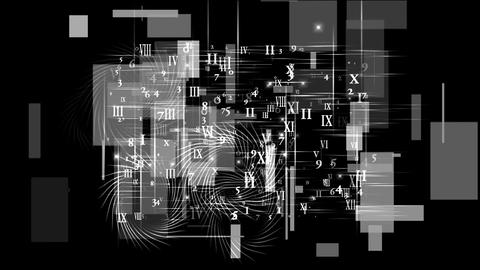 number and alphabet matrix in computer monitor,finance market display Animation
