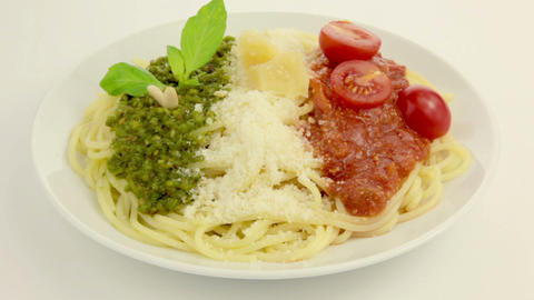 Edible Italian Flag stock footage
