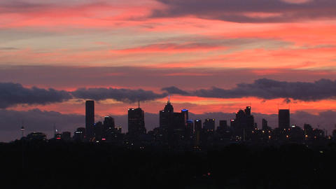 Melbourne skyline Footage