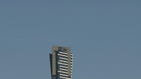 Zoom out from the Eureka Tower Stock Video Footage