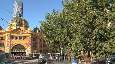 Flinders station Stock Video Footage