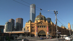 Wide shot from the Flinders station Footage
