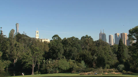 Royal Botanic Gardens Melbourne Stock Video Footage