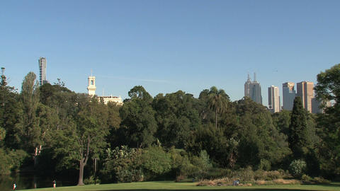 Royal Botanic Gardens Melbourne stock footage