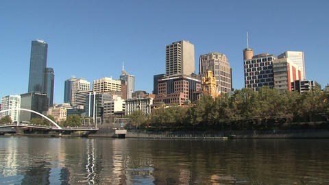 Yarra River downtown Footage