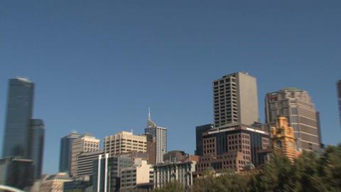 Melbourne city skyline Stock Video Footage