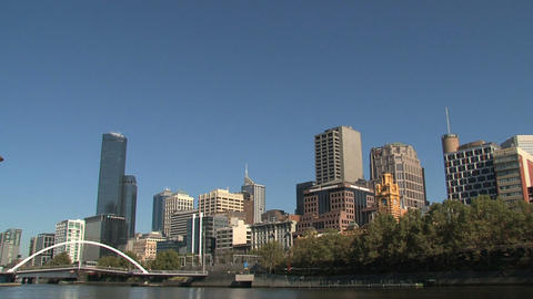 Melbourne city skyline Footage