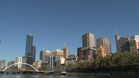 Melbourne city skyline Stock Video Footage