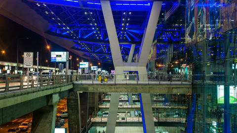 1080 - Bangkok Suvarnabhumi Airport Stock Video Footage