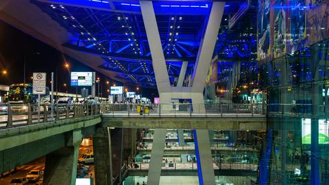 1080 - Bangkok Suvarnabhumi Airport Footage