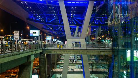 1080 - Bangkok Suvarnabhumi Airport Stock Video Footage