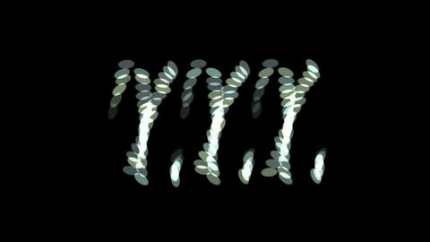 rotation oval array pattern,chain Stock Video Footage