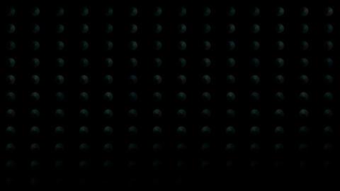 rotation green disc,tech... Stock Video Footage