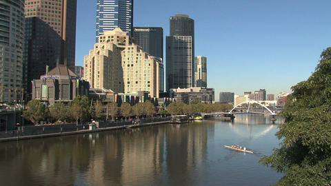 Canoeing at the yarra river Footage