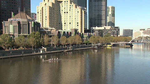 Canoeing at the yarra river Stock Video Footage