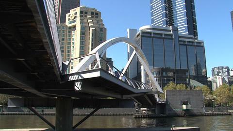 Tilt Eureka tower to yarra river in Melbourne Stock Video Footage