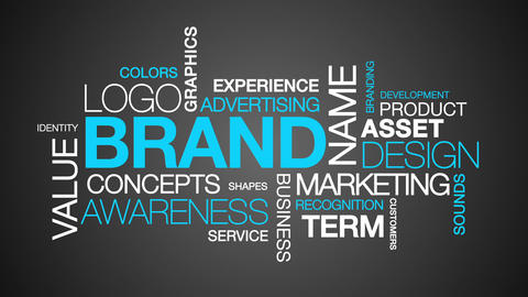 Brand Word Cloud Text Animation Stock Video Footage