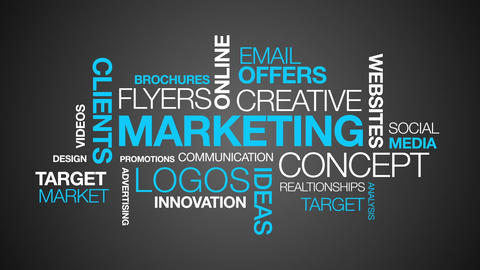 Marketing Word Cloud Animation Animation