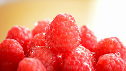 Raspberries  Gyrating  Loop stock footage