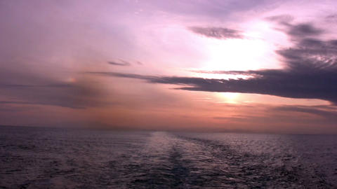 Sea. Red Sunset Stock Video Footage