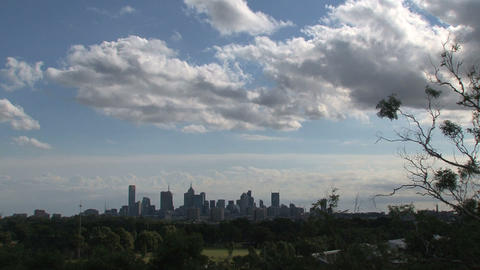 Melbourne skyline Stock Video Footage